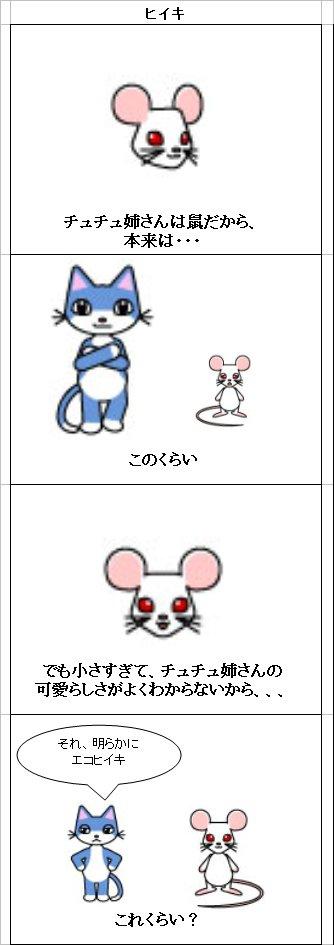 ねずみ漫画 チュチュ ハツカネズミ