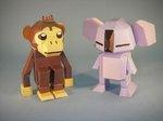 ペーパークラフト コアラ 猿 動物