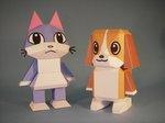 ペーペークラフト 犬 猫 動物