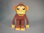 ペーパークラフト チンパンジー 猿 動物